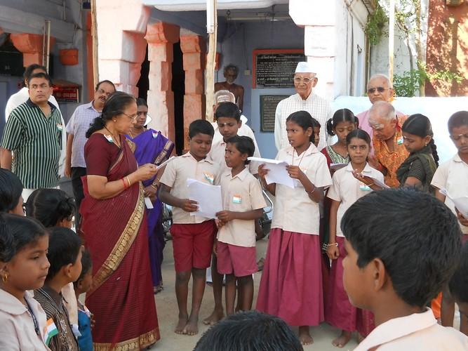 A general view during Gita Chanting